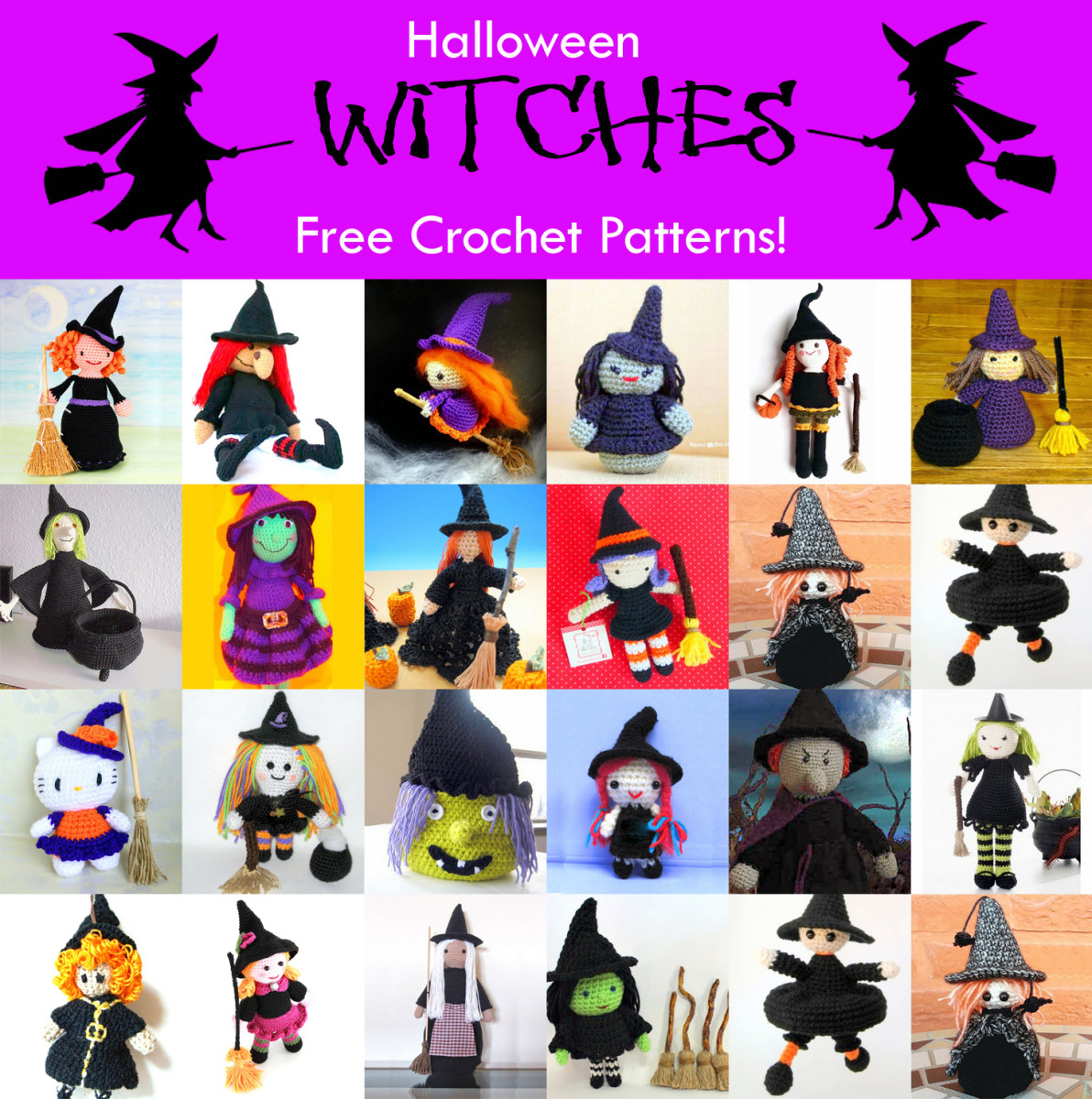24 Free Halloween Witch Crochet Patterns