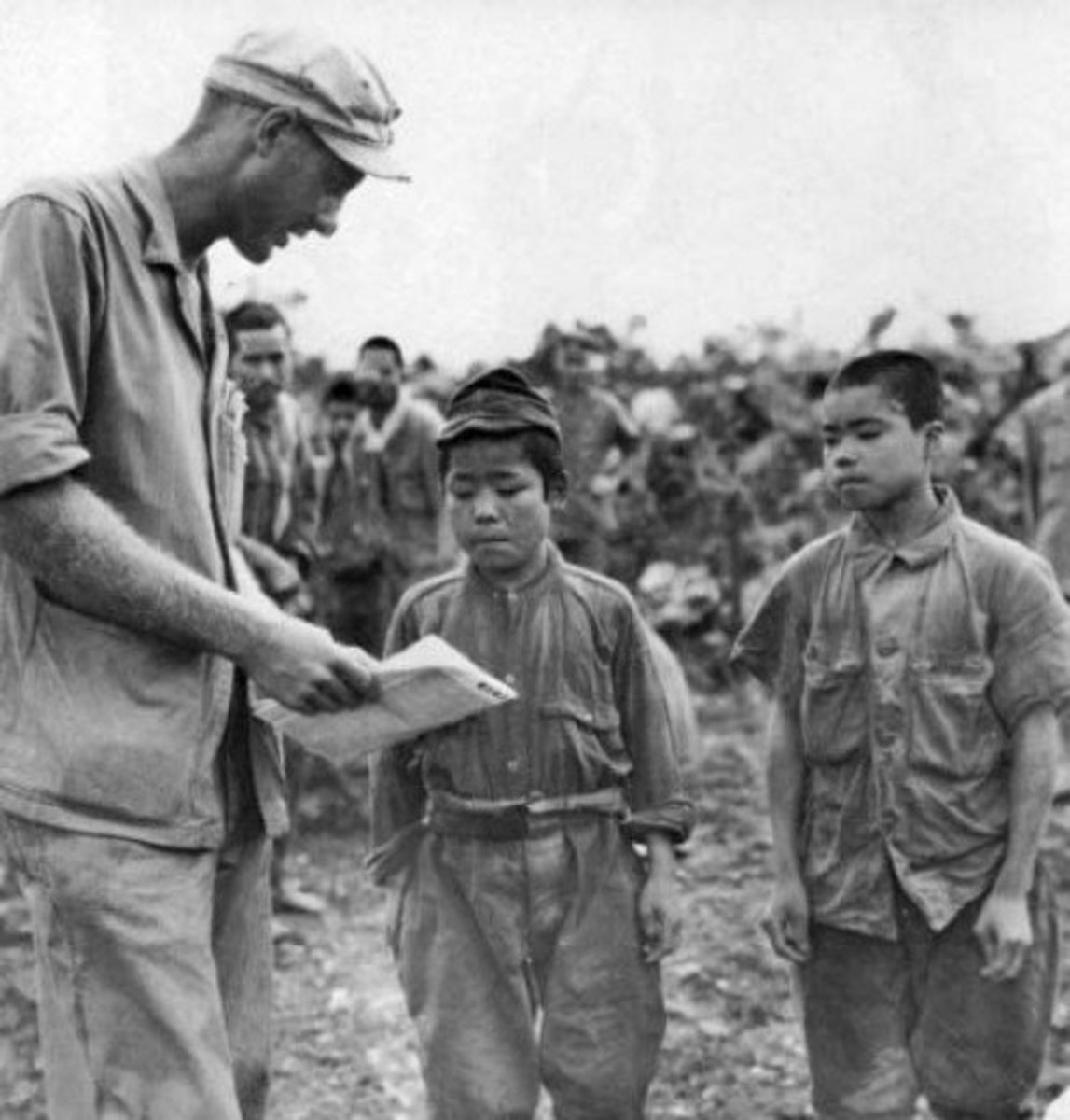 The Japanese Imperial Army mobilized 1,780 middle school boys aged 14–17 years into front-line-service.