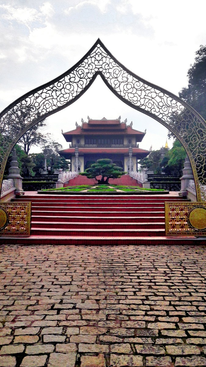 At the gate of Buu Long Temple