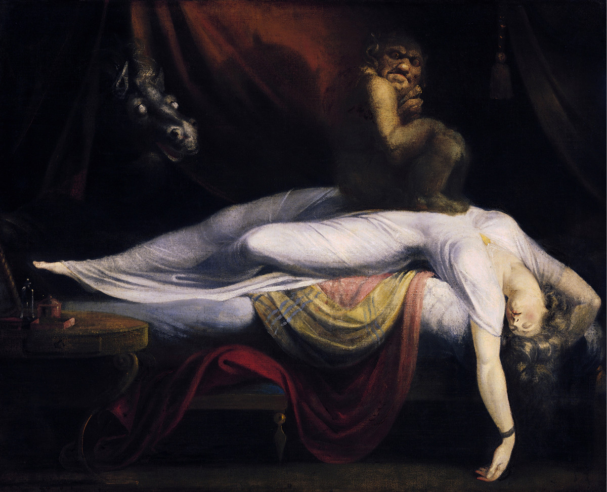 thought to be one of the classic depictions of sleep paralysis perceived as a demonic visitation.