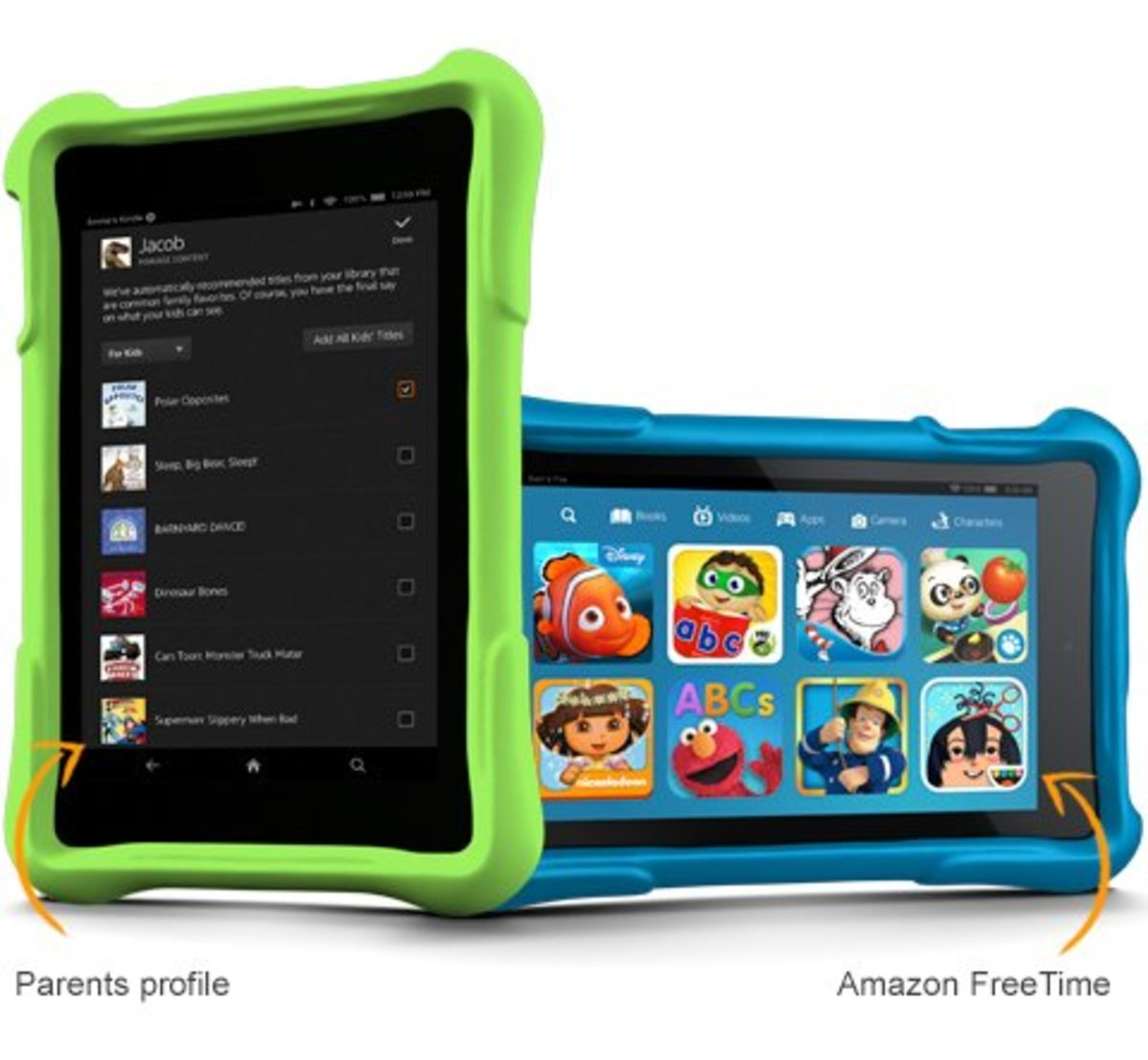 Because the Amazon FreeTime interface for your child is accessed through an app on the Kindle Fire tablet, you can always access the regular tablet interface for an adult experience.