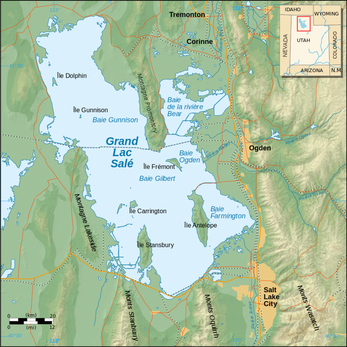 Great Salt Lake Map