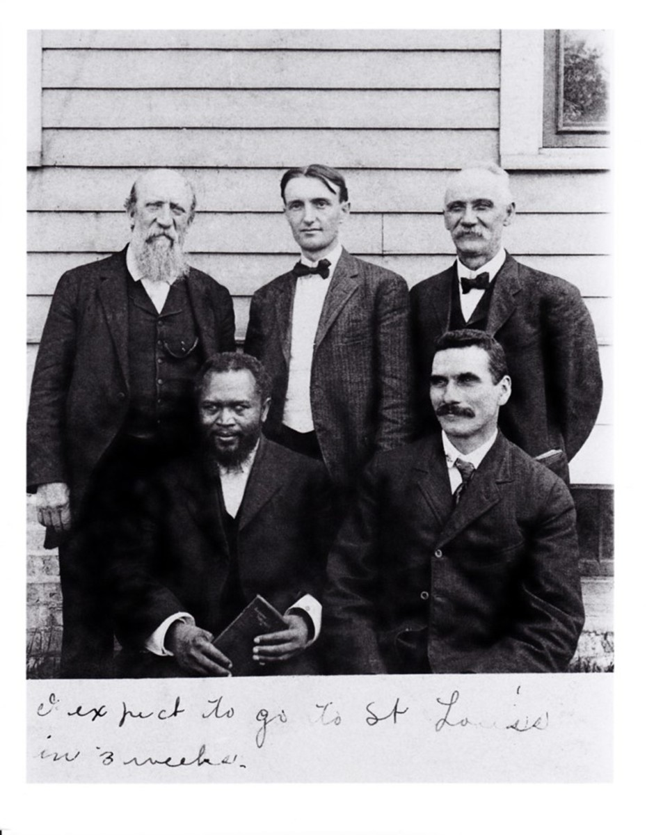 Seated are William J Seymour  and John G. Lake