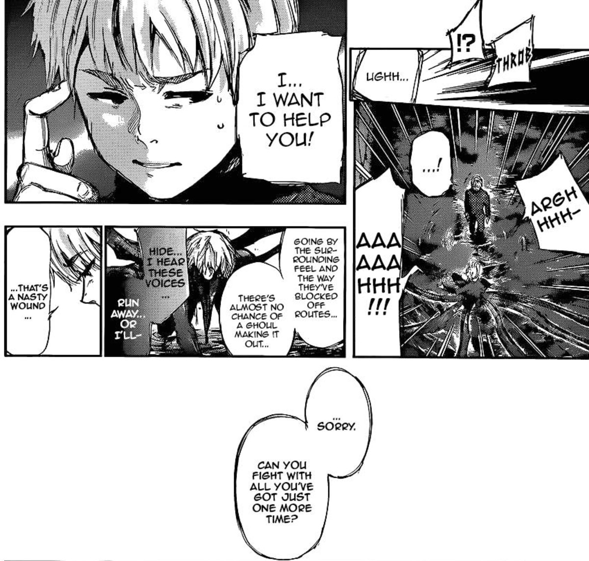 Hide lying when he said he wanted to save Kaneki.