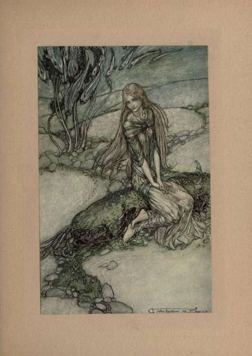 Undine under water by Arthur Rackham