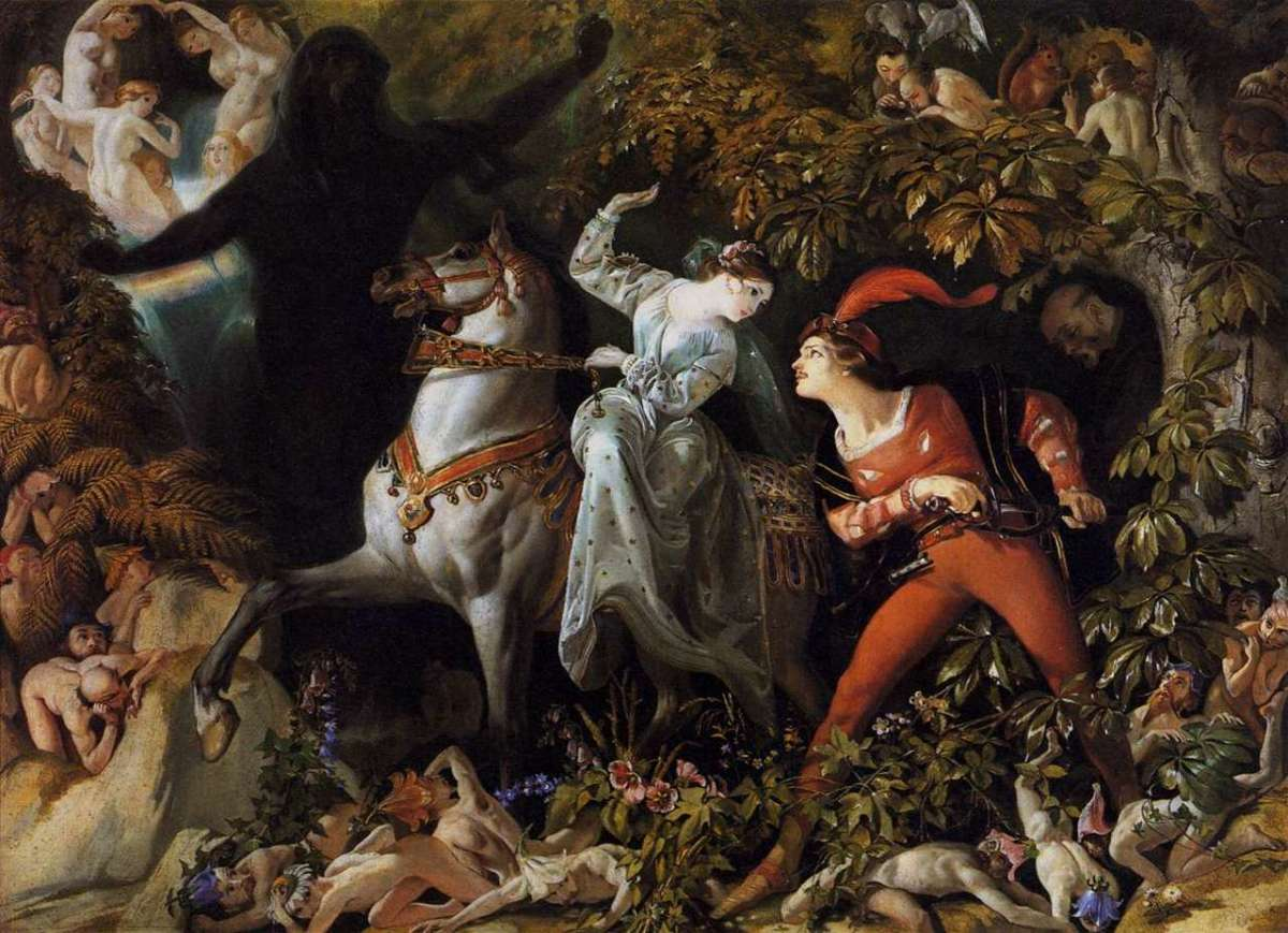 Undine and Huldbrand by Daniel Maclise