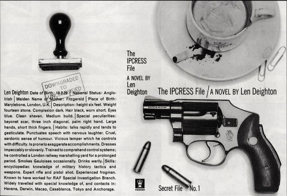 The cover spread for Len Deighton's first book that brought us the anti-hero Harry Palmer, 'The Ipcress File', a story of betrayal and double-dealing at the height of the Cold War