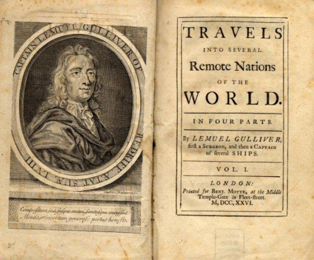 Jonathan Swift's 'Gulliver's Travels', a series of four books that chronicled the foibles of the establishment in late Stuart England in fictional terms.