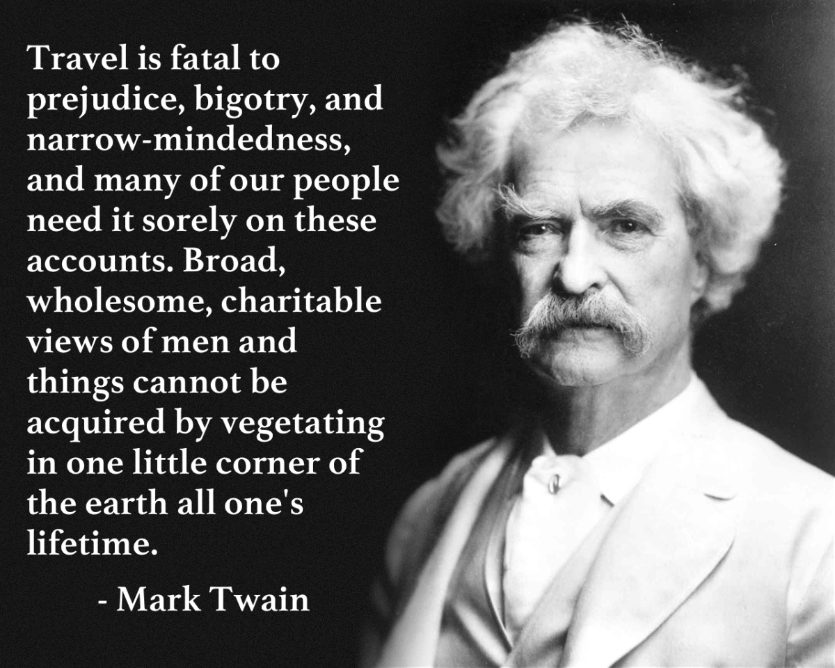 Samuel Langhorn Clemens, aka  Mark Twain, a writer of many books that charted the young life of Huckleberry Finn and friends along the Mississippi (got that right, have I?)
