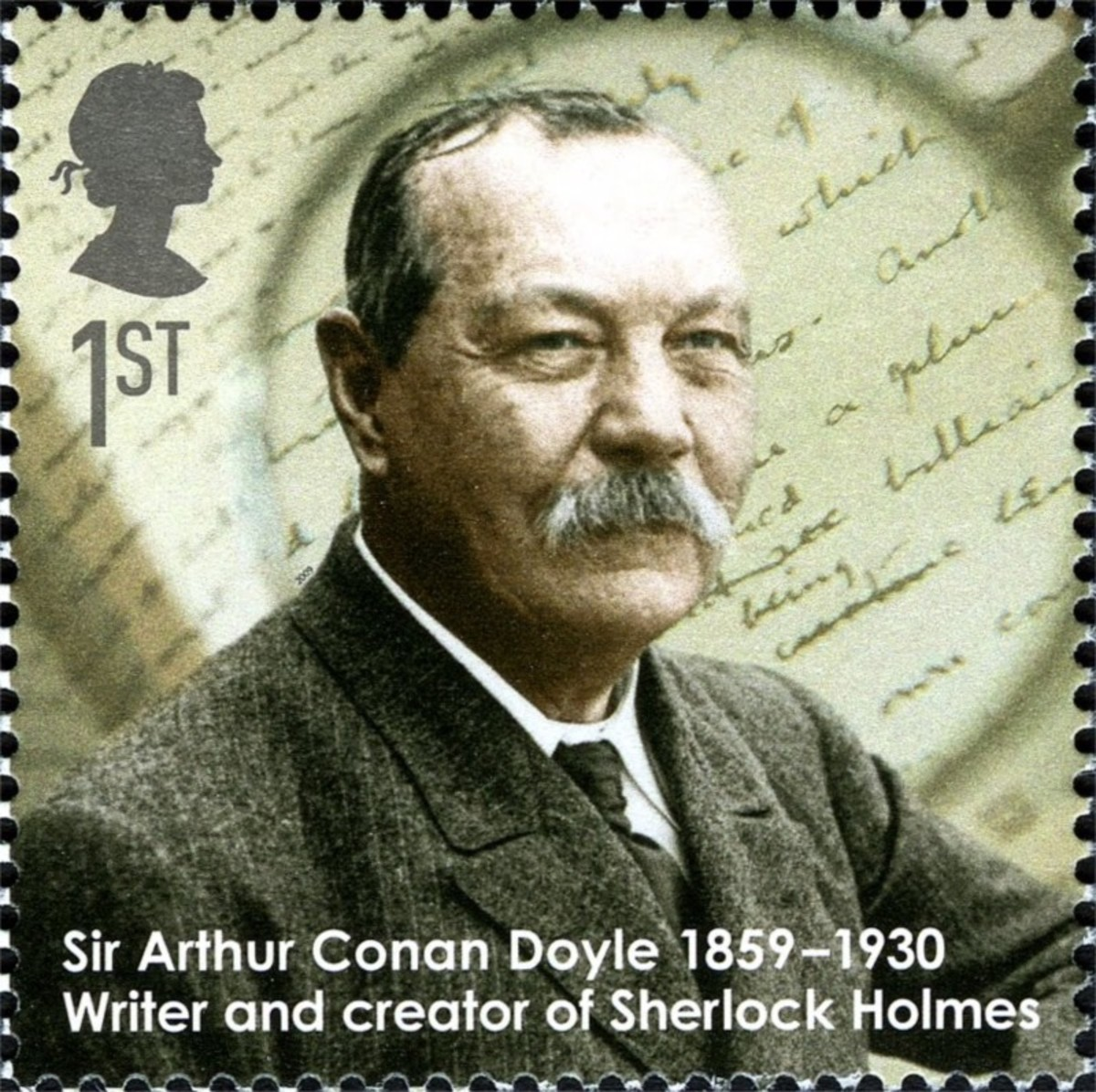 Sir Arthur Conan Doyle, surgeon and author who created Sherlock Holmes through the eyes of his friend Doctor Watson, originally published in Strand Magazine