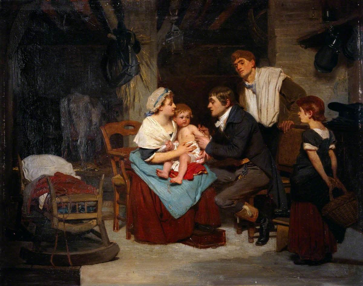 Edward Jenner vaccinating a boy immunology