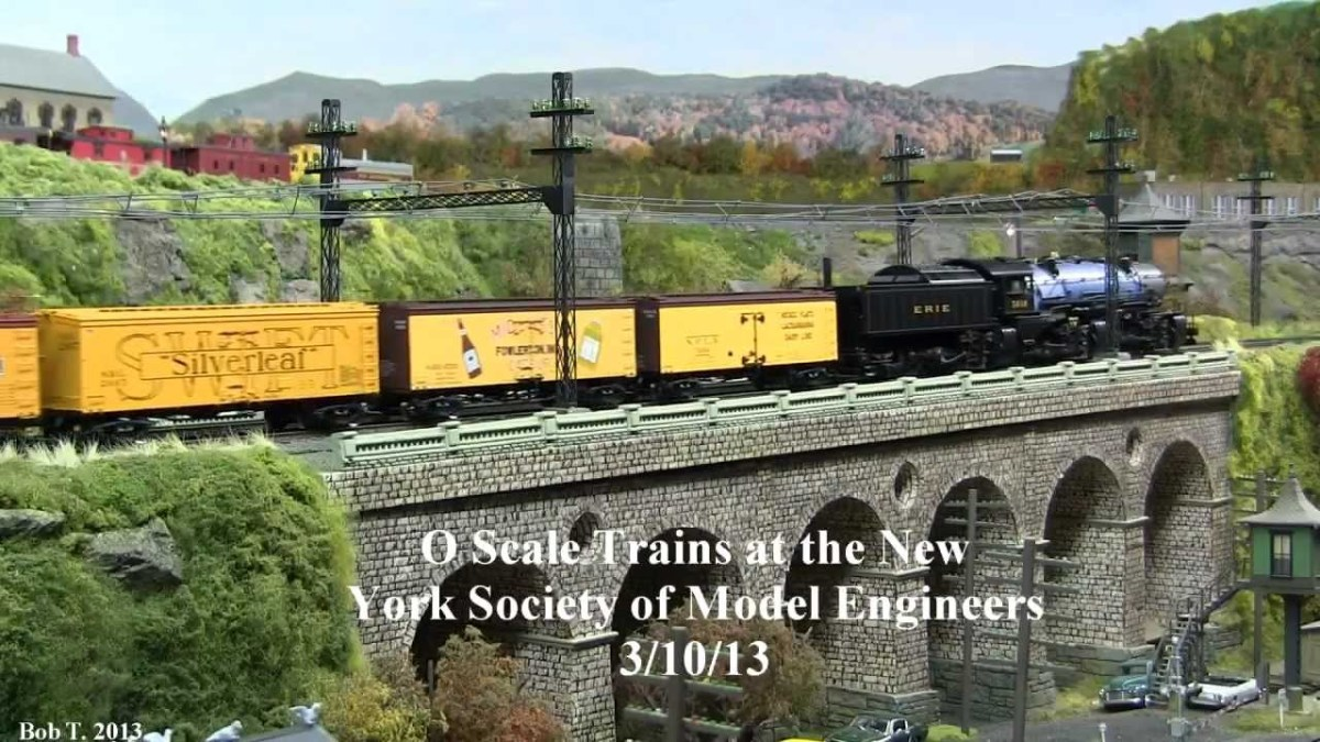 New York O Scale advertisement poster for an exhibition across the Pond