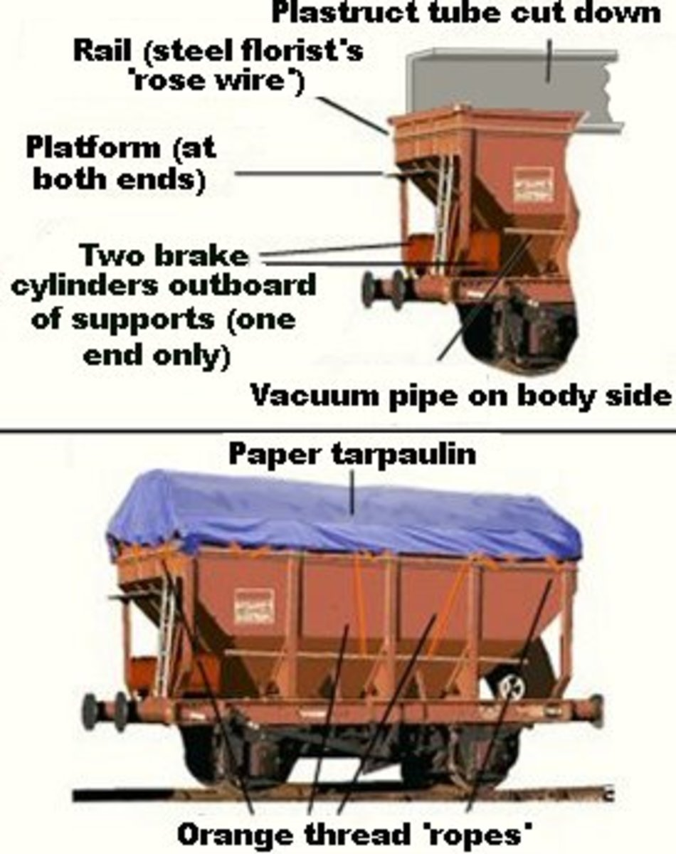 N Gauge Society hopper conversion shows the lengths the modeller went to produce this model