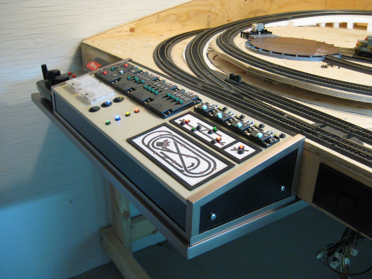 Train Control Panel - hi-tech for a simple layout (what's out of sight, though?)