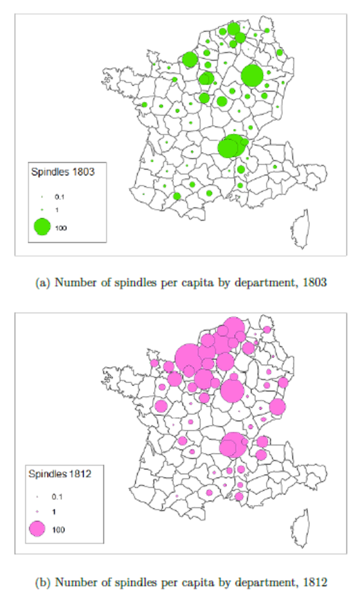 French northern textile production would benefit from the greater difficulty that the British had smuggling into Northern France.