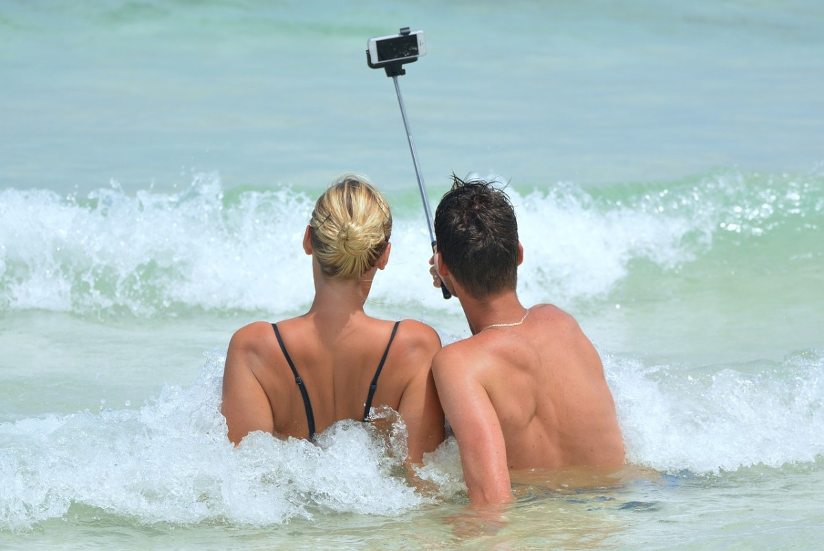 When another woman's been playing with your husband's selfie stick.