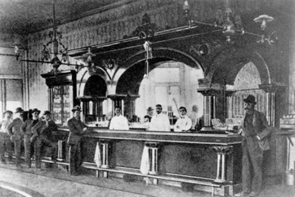 Typical Old West saloon.