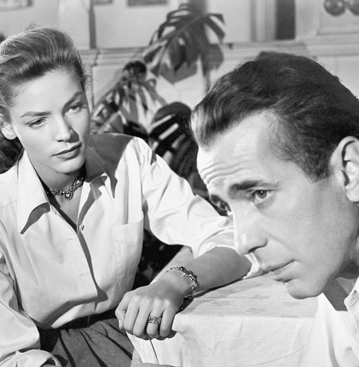 Lauren Bacall and Humphrey Bogart in Key Largo (1948)
