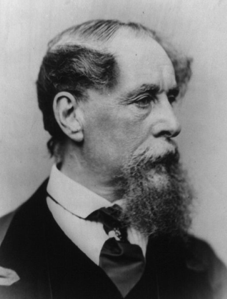 Charles Dickens photographed in 1867