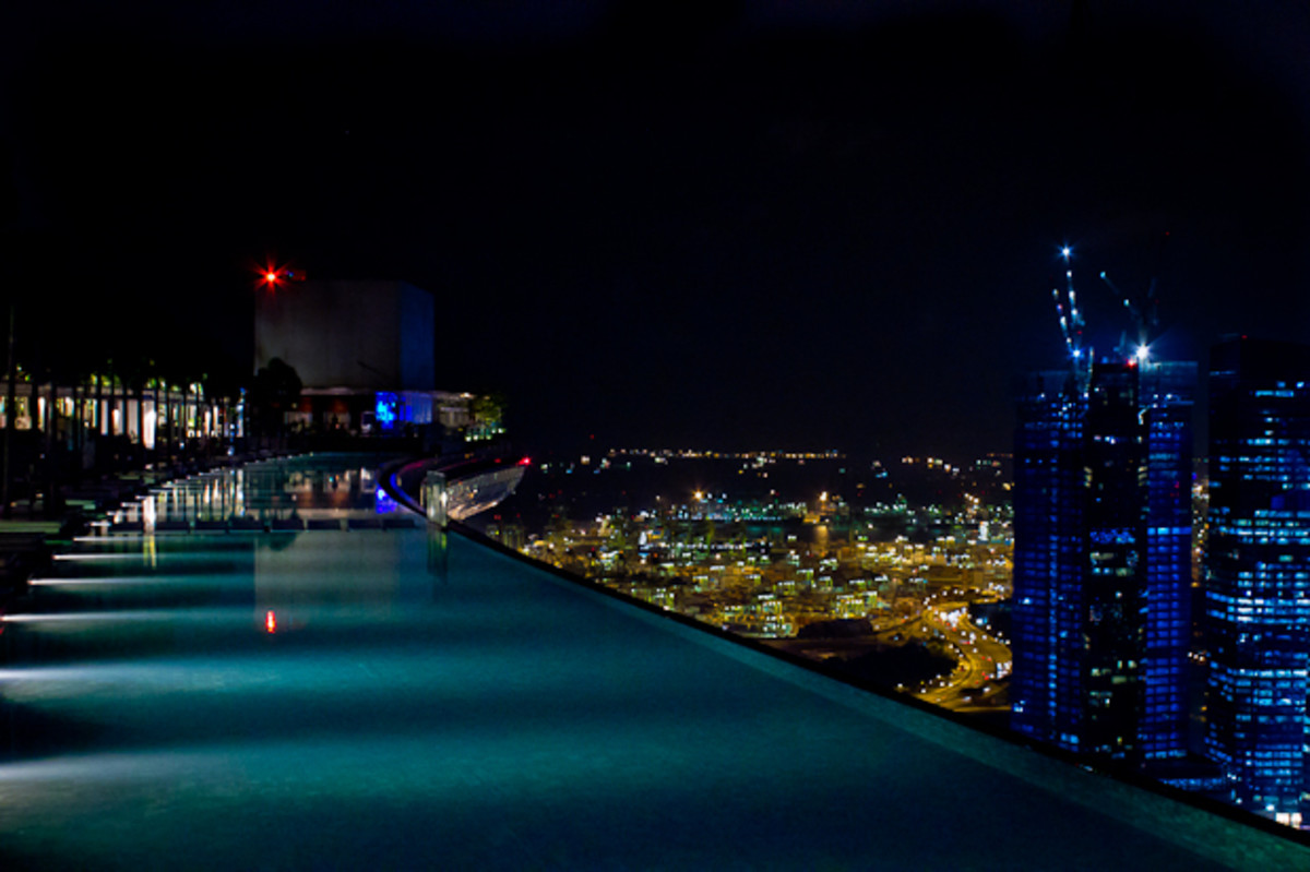 At Marina Bay Sands Infinity Pool Singapore