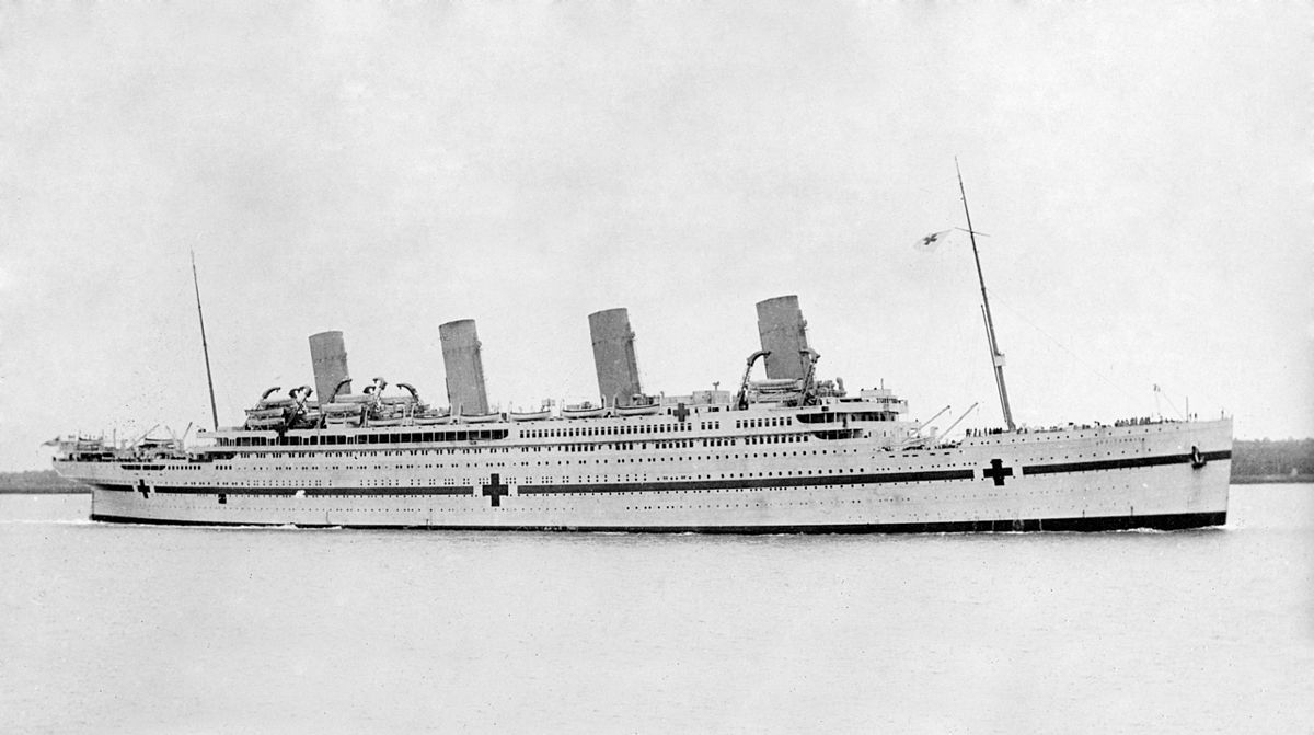 RMS/HMHS Britannic in 1916.