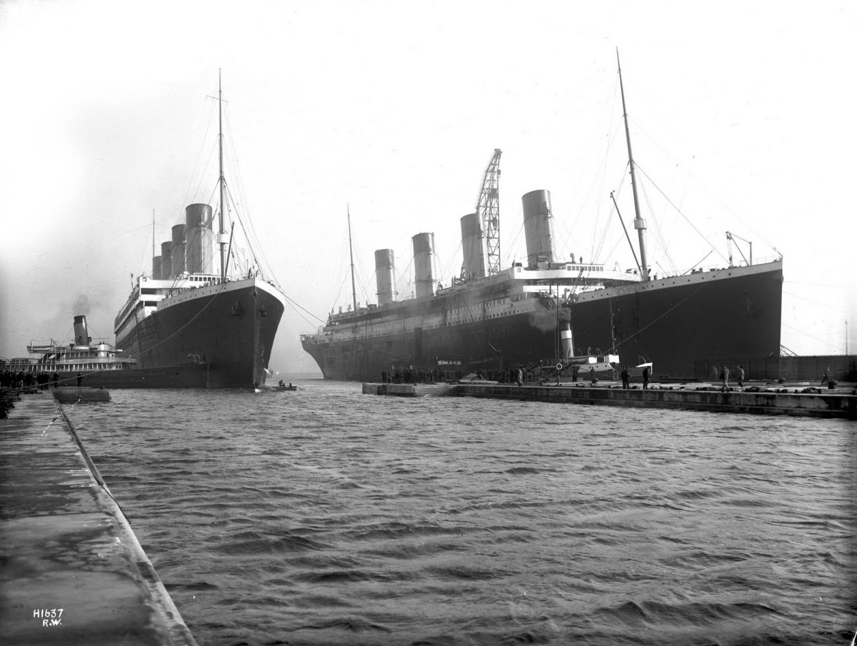 Olympic and Titanic.