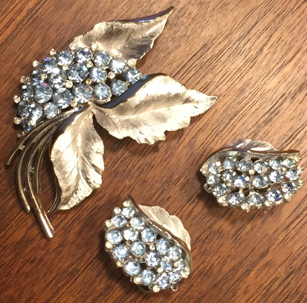 Trifari brooch and earrings
