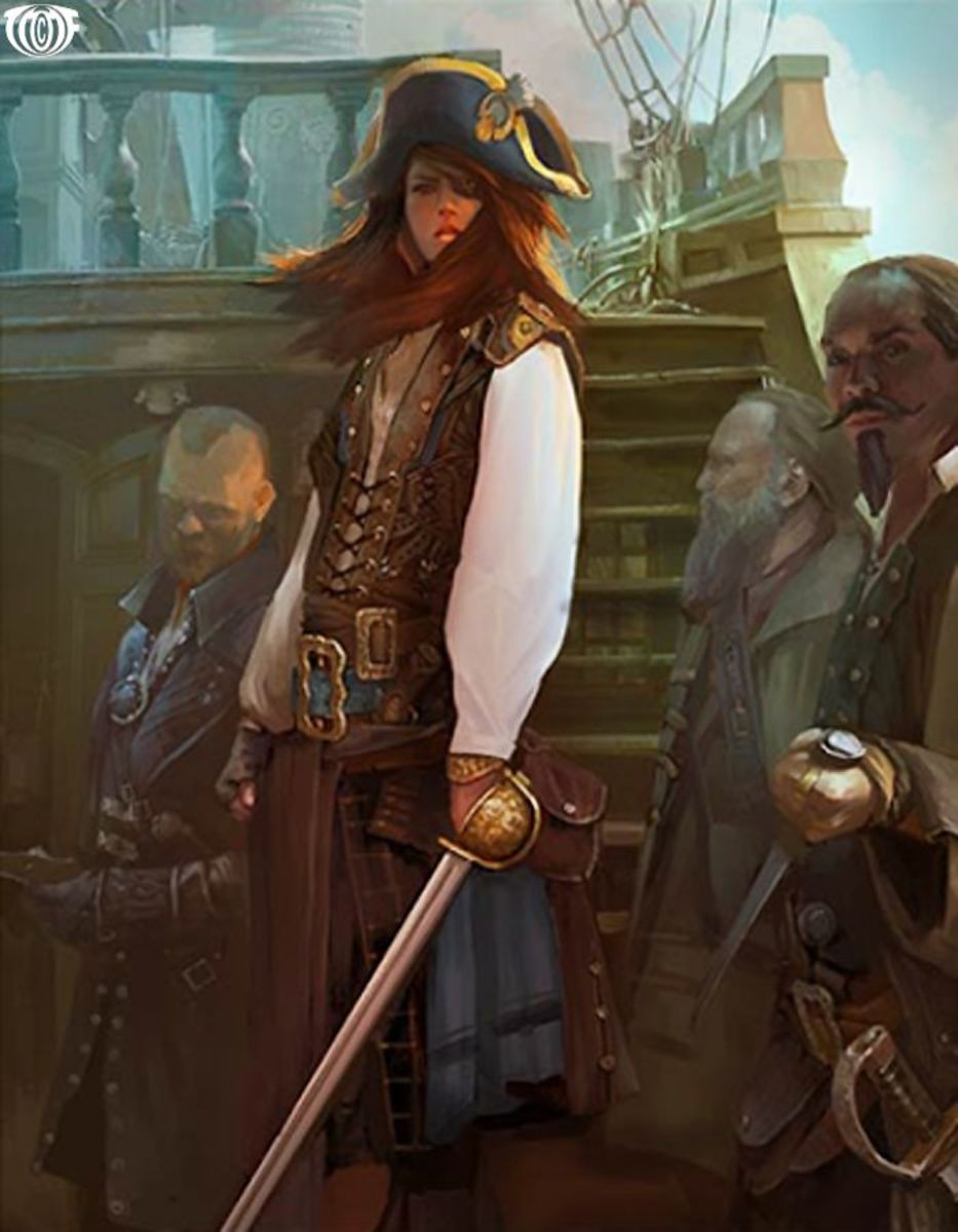 Rachel Wall was one of the first and only female-American pirates.