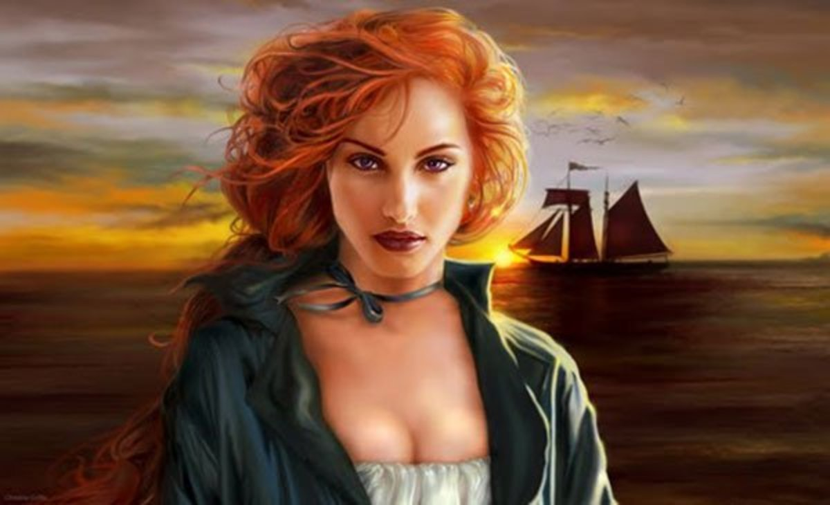 While modern artists depict Grace with long, red hair, Grace actually wore her hair cut short. When she was 12 her father refused to let her sail because her long hair would be caught in the mast. So, Grace cut her hair short and kept it that way.