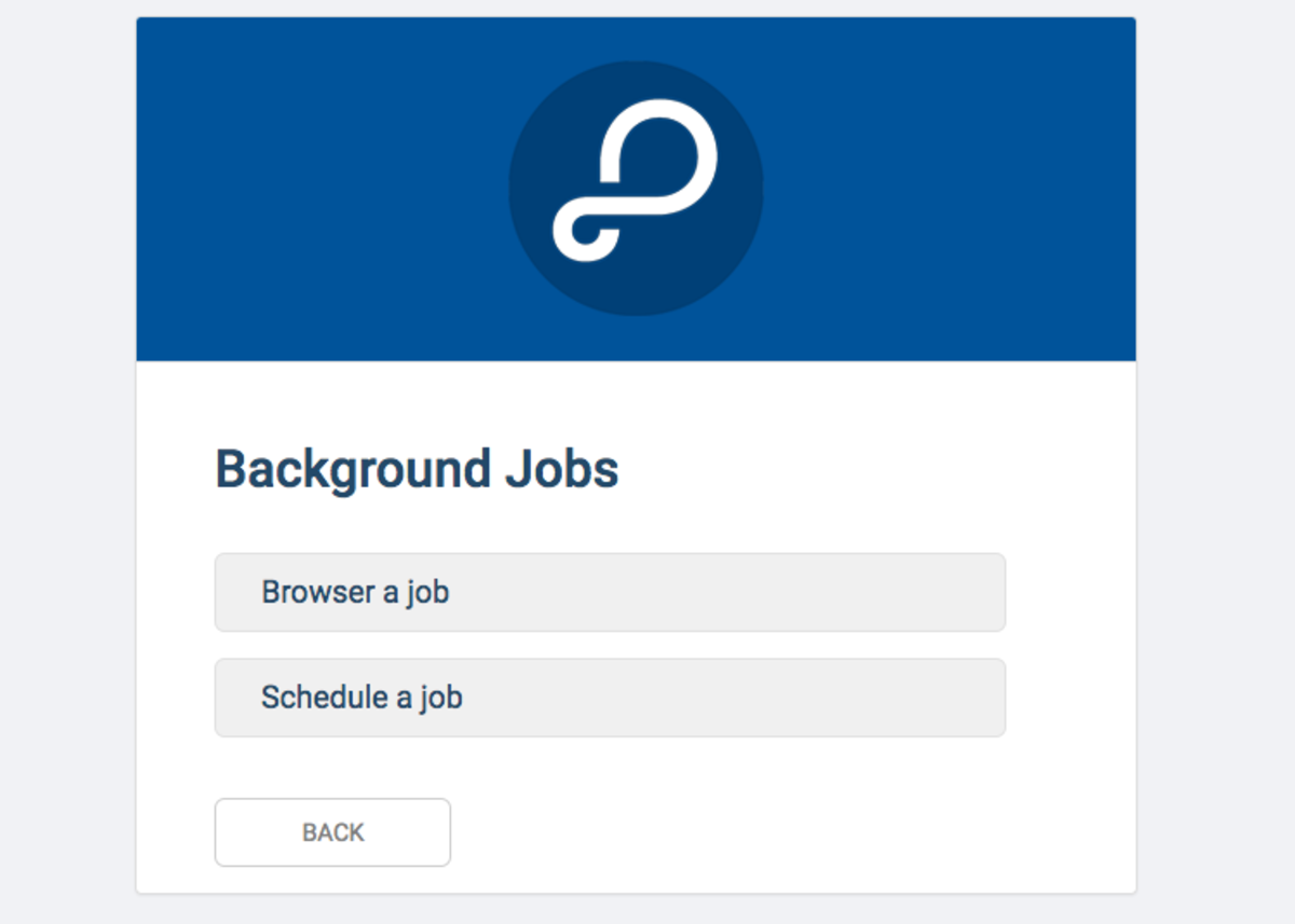 Browse and Schedule your own background jobs