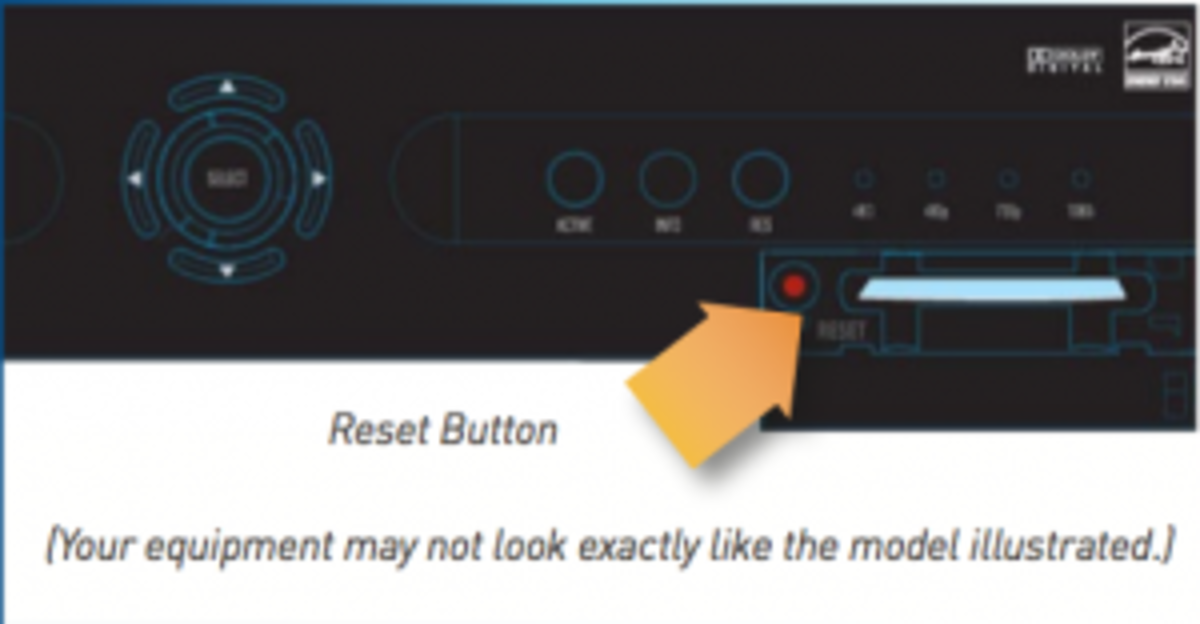 DirecTV Access Card and Reset Button Location
