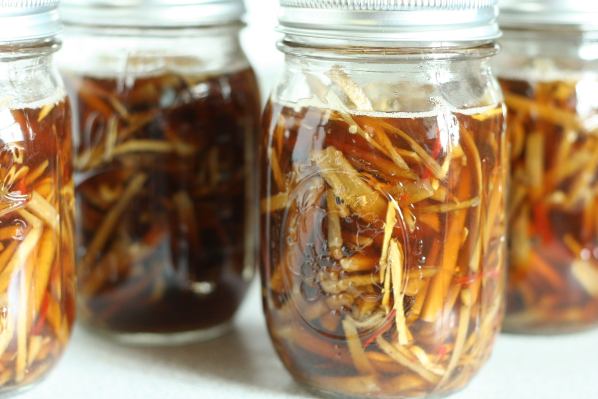 Pickled burdock is very popular in Japan.