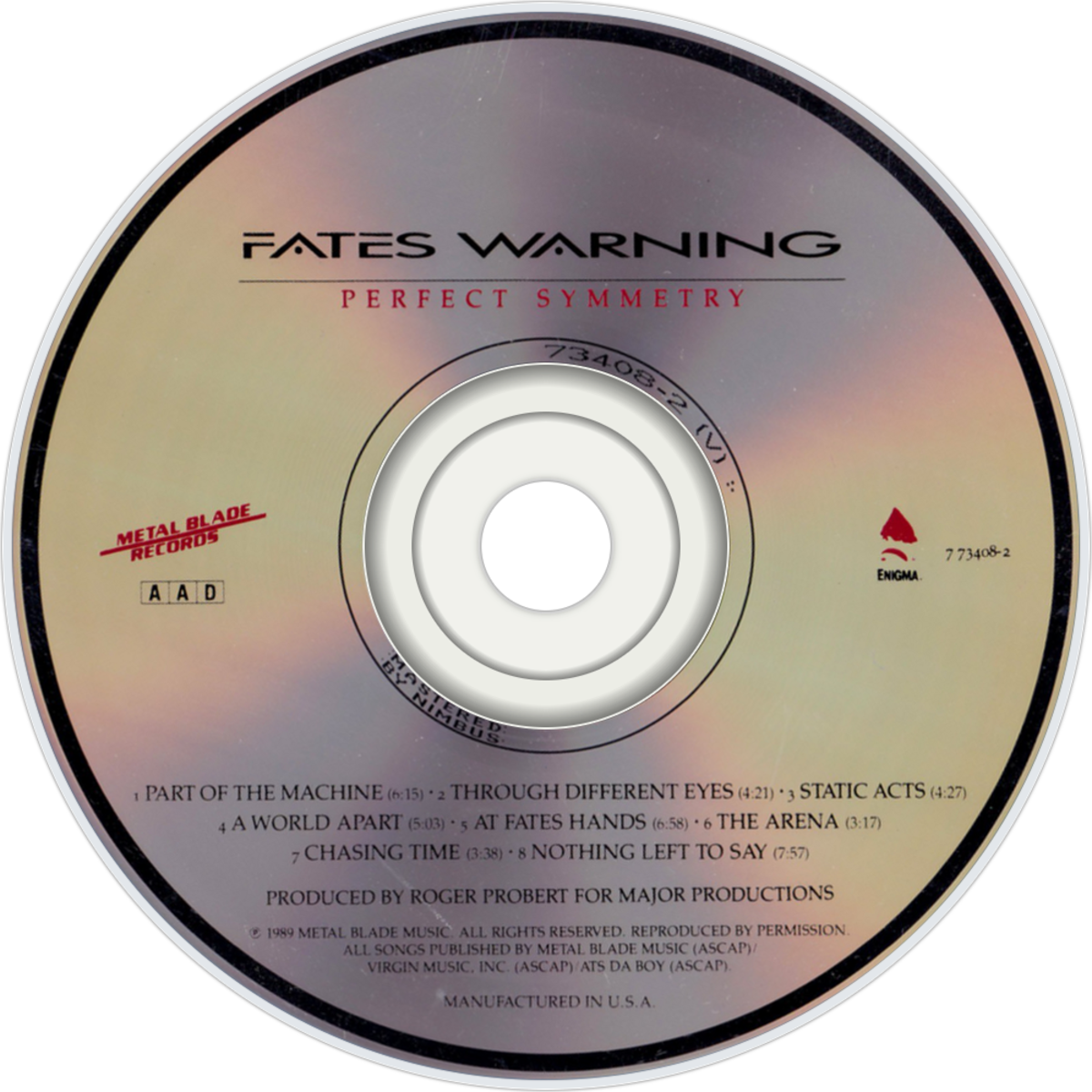 "Review of the Album ""Perfect Symmetry"" by American Progressive Metal Band Fates Warning"