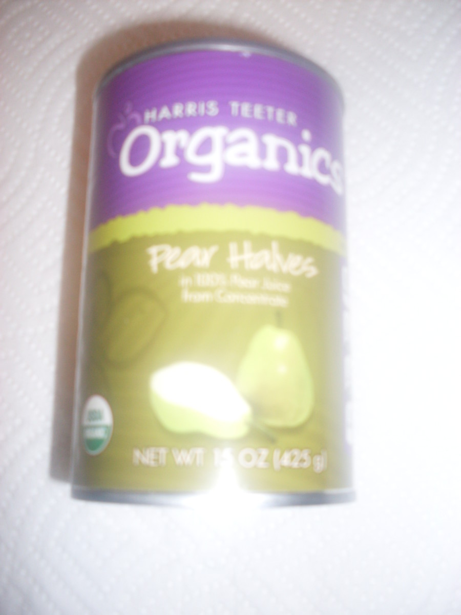 Harris Teeter Organics brand pear halves