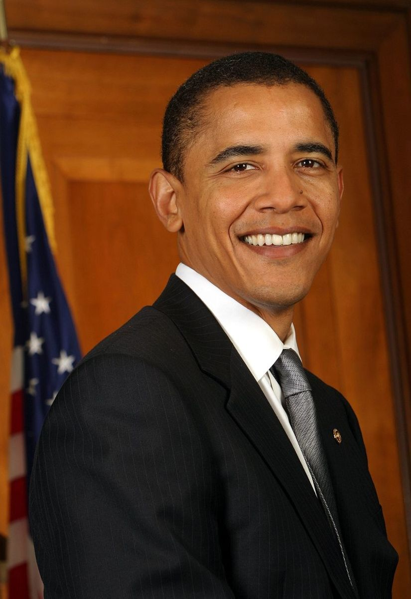 United States Senator Barack Obama in 2005.