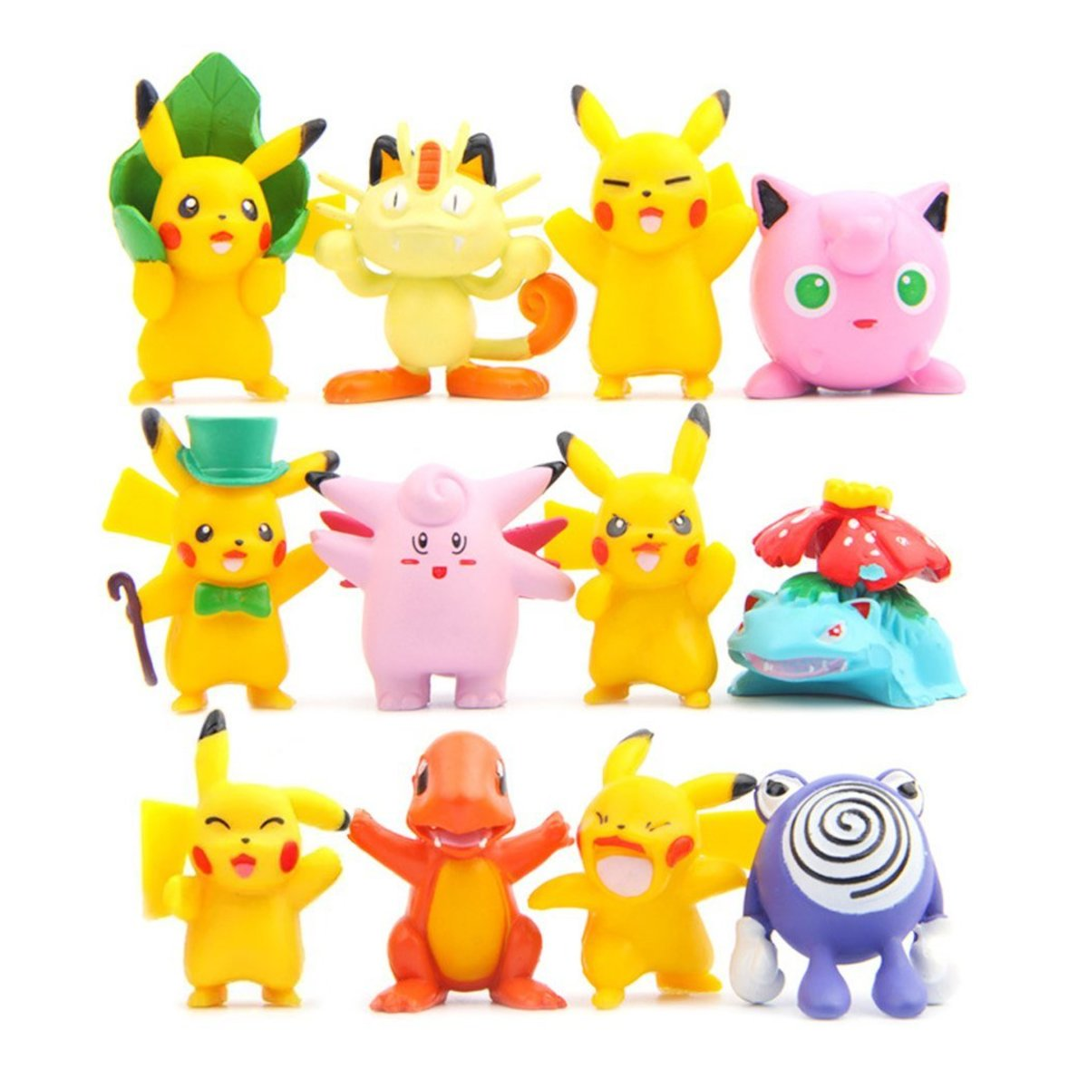 "12 Pcs (1 Set ) Monster Collection Pokemon, Pokemon Action Figures, 1.8"""