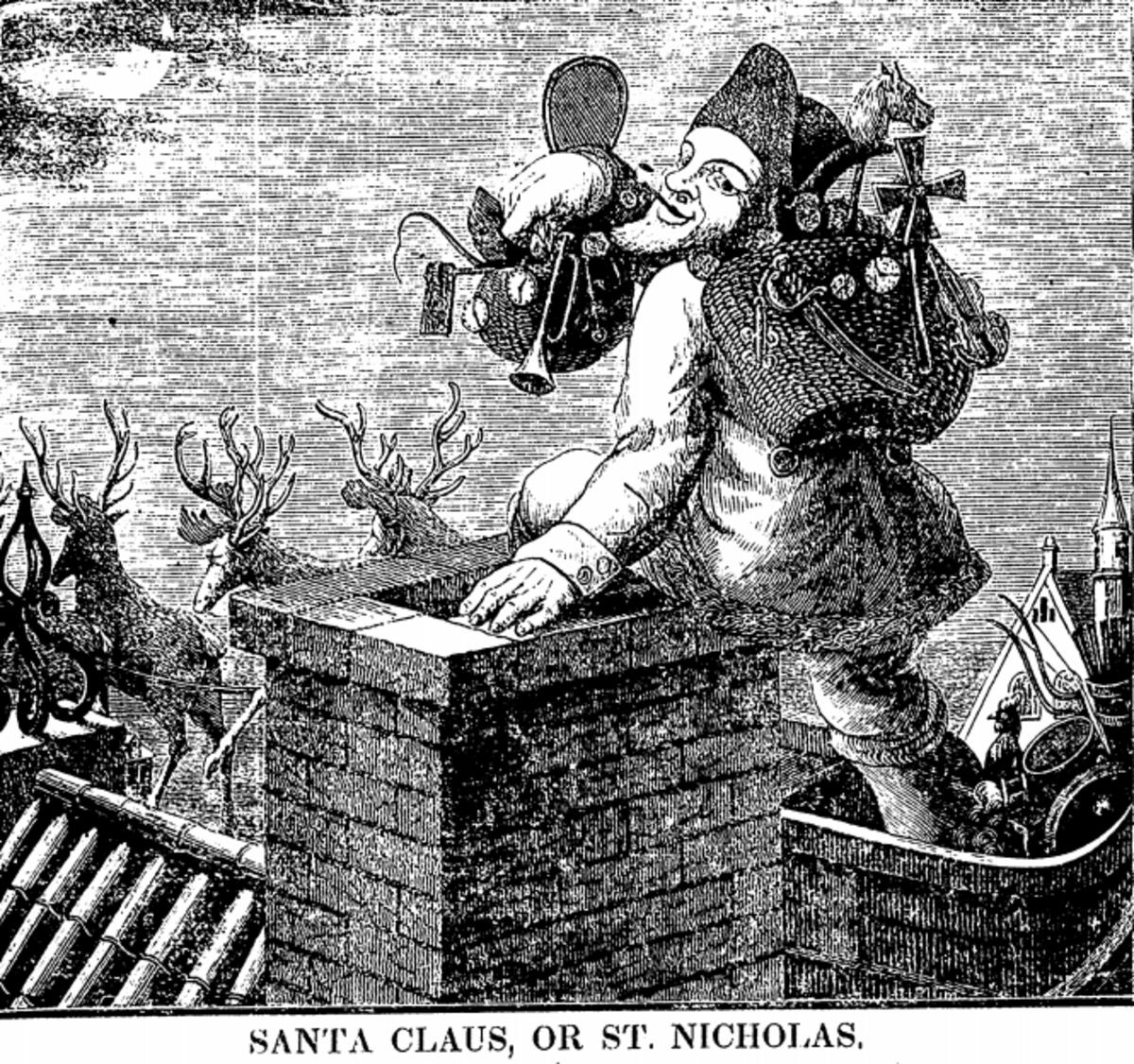 1844 Image of Santa