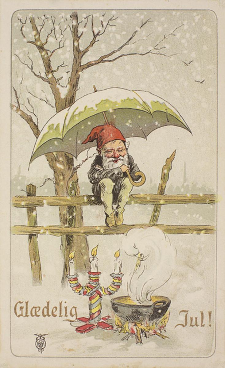 Yule Postcard from 1901