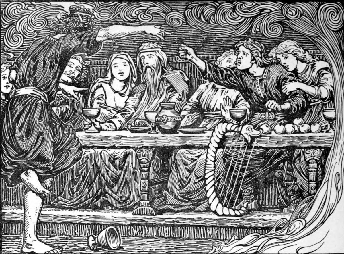 Byggvir at Aegir's Feast by W.G. Collingwood