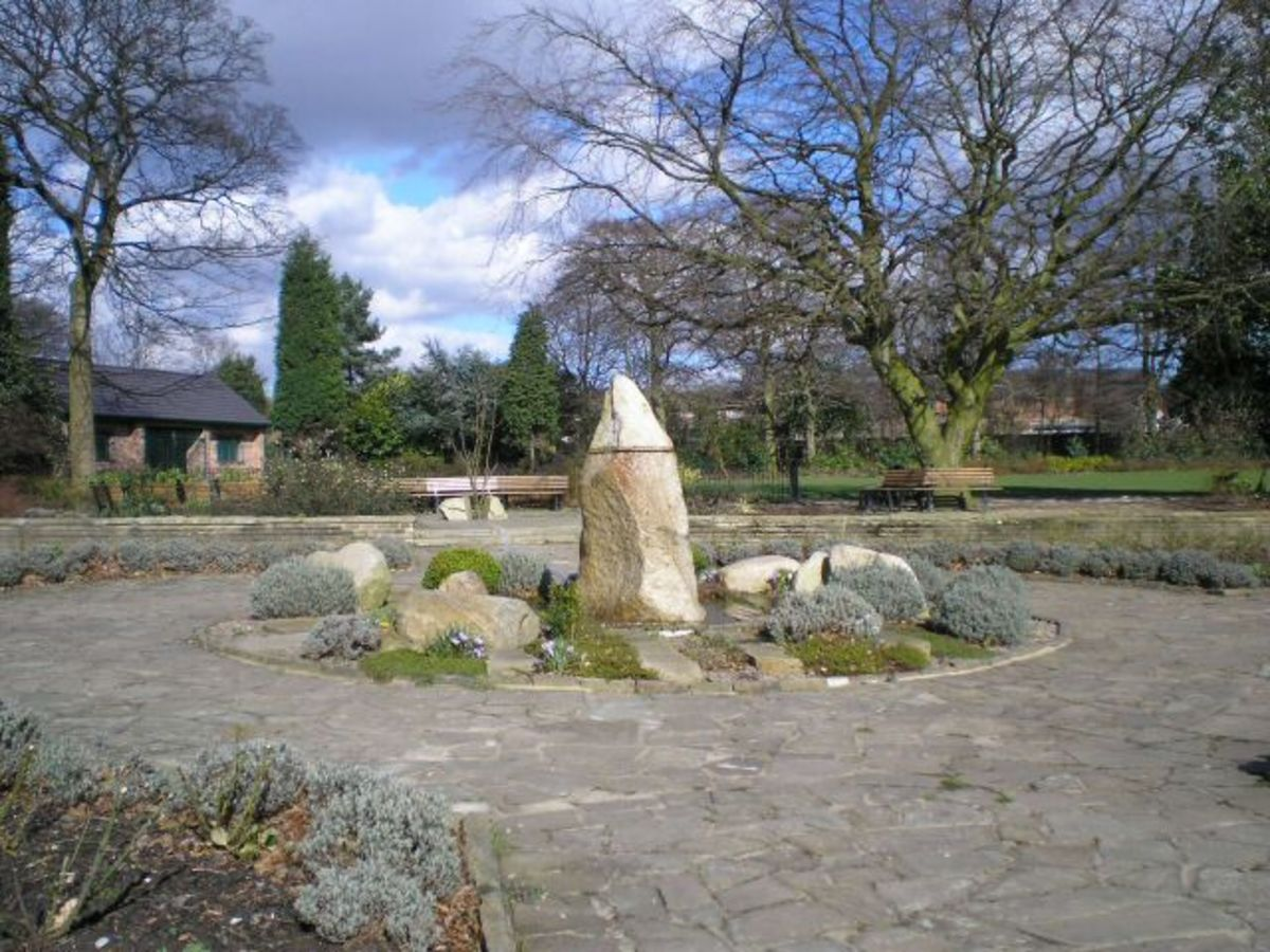 The garden of tranquility in London is a memorial to the patients that suffered at the hands of 'Dr. Death.'