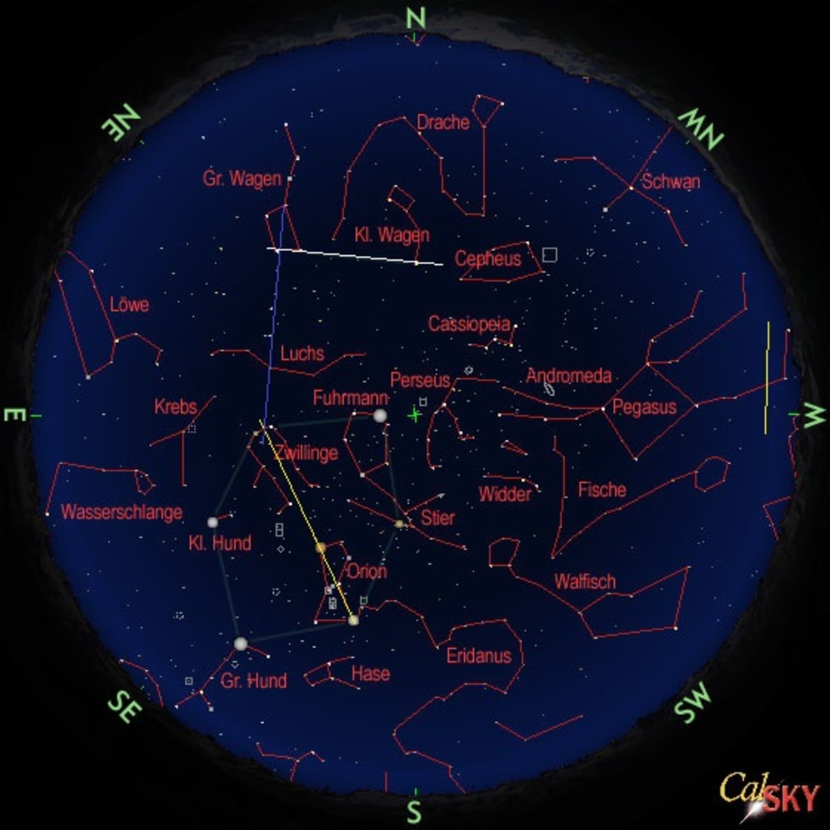 Locating Gemini in the Night Sky