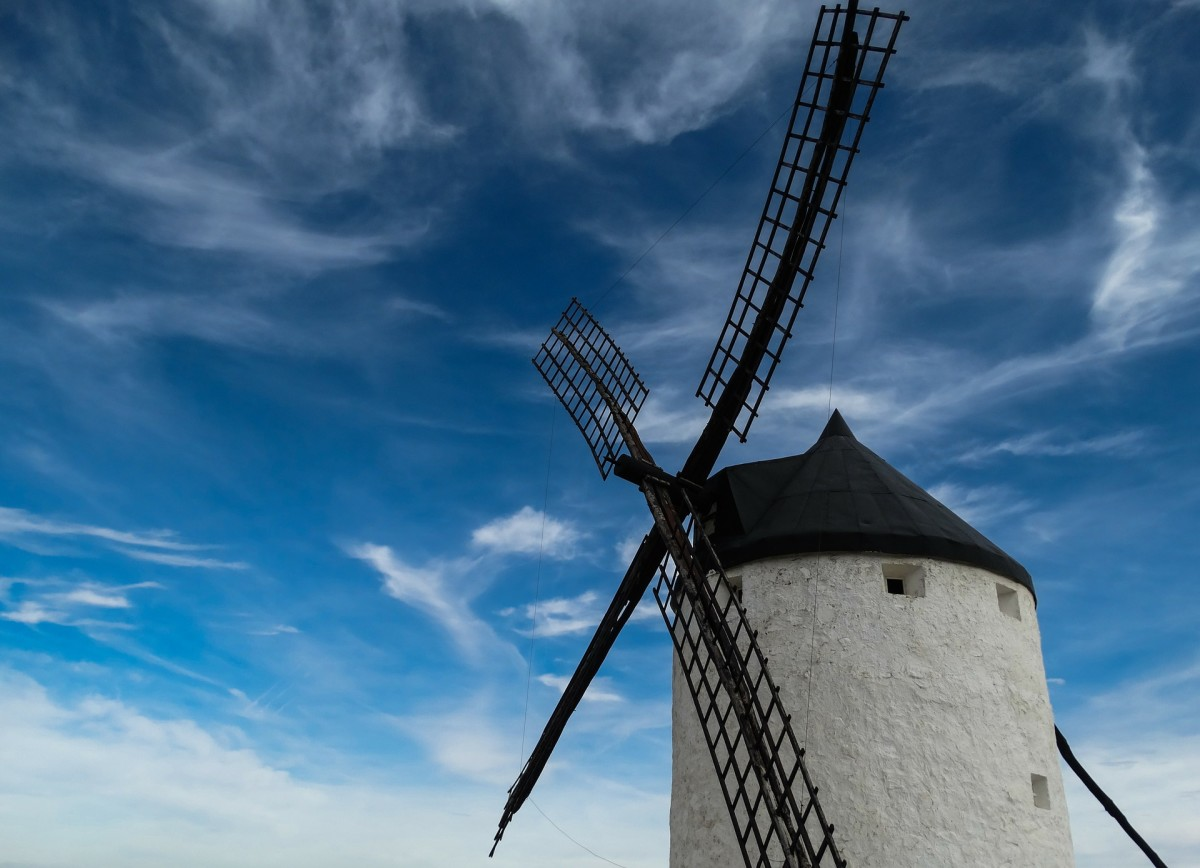 The windmill is not only a source of energy but it keeps on spinning around just like time keeps on passing us by.