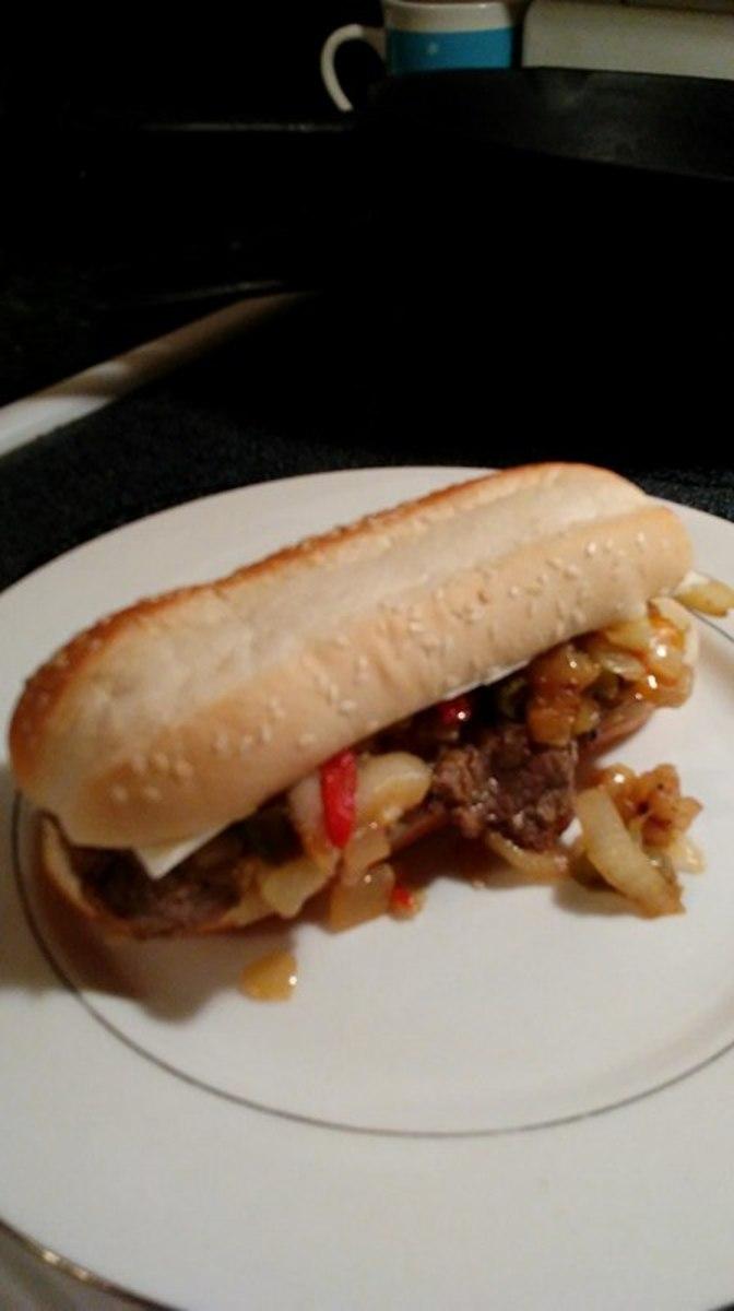 Dollar Tree Philly Cheesesteak Sandwich