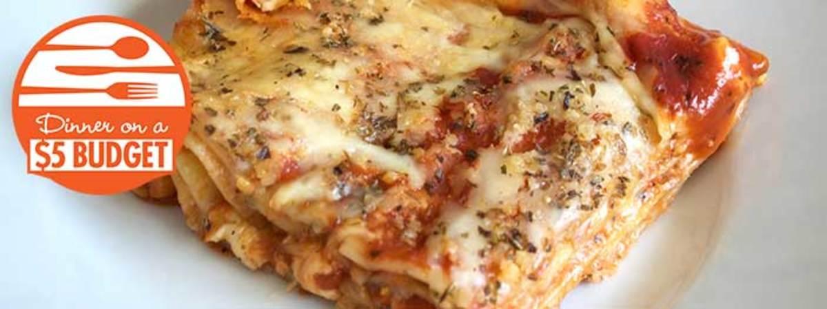 Homemade Lasagna from Dollar Tree