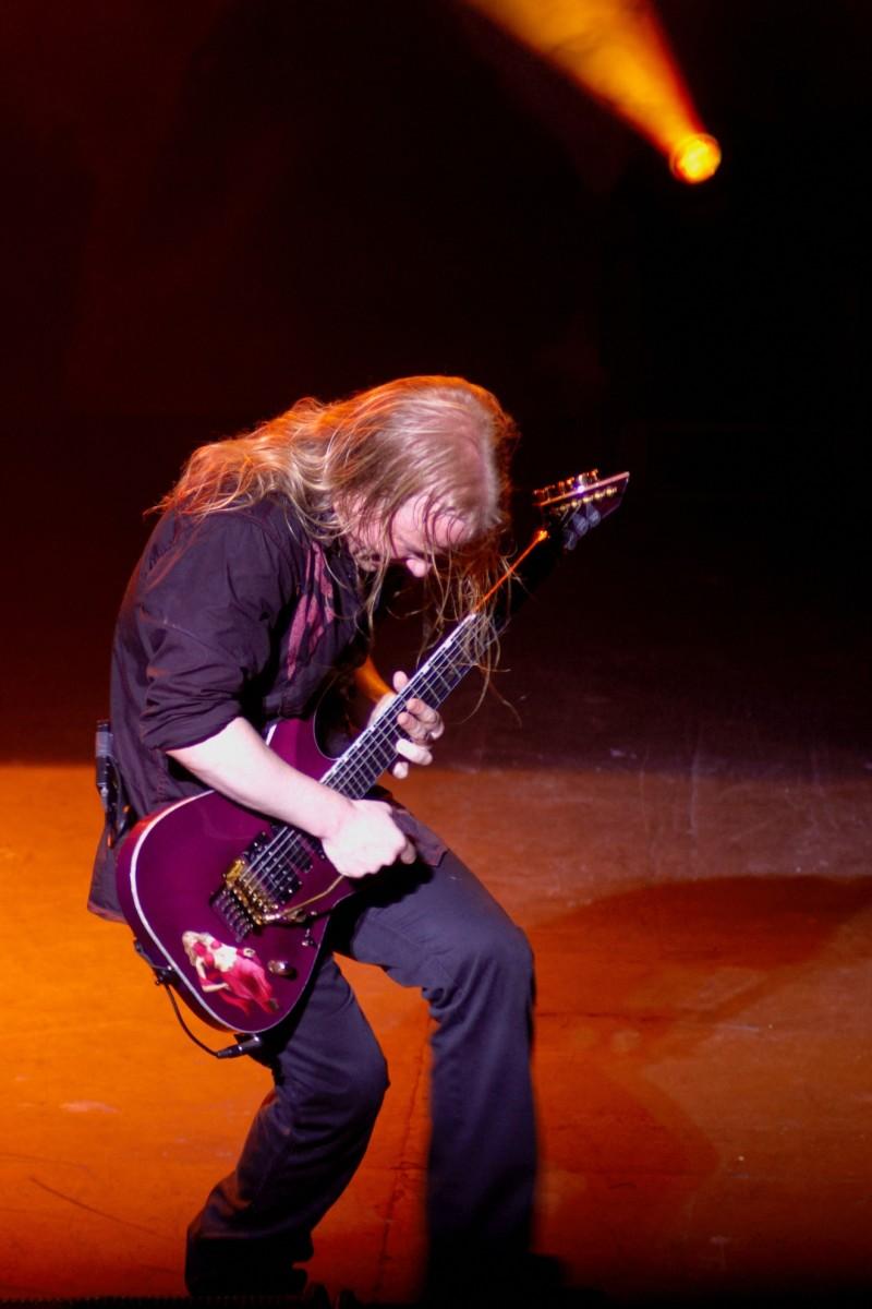 Emppu Vuorinen at a Nightwish concert at the venue called The Palais in Melbourne, Australia.