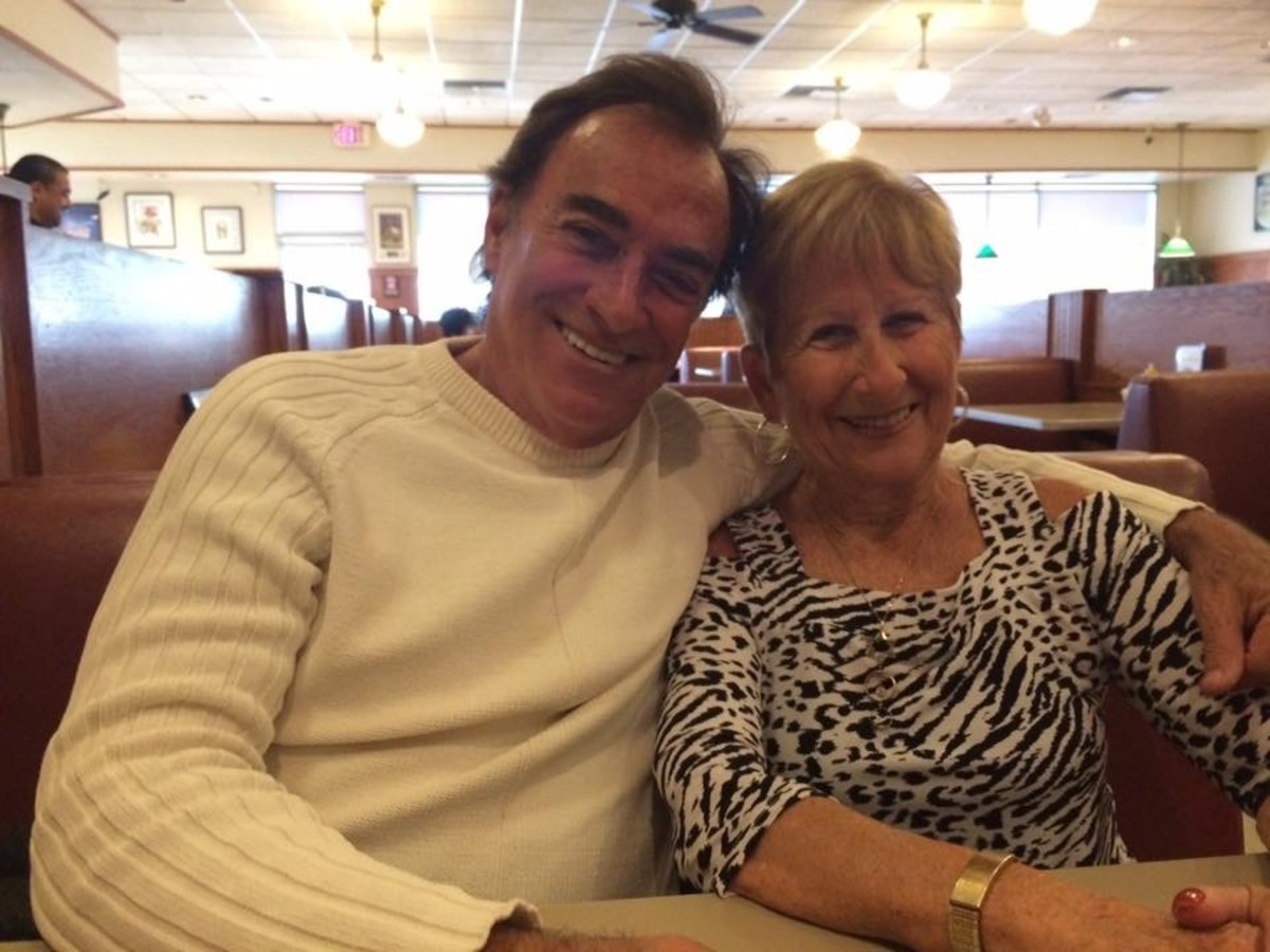 """Days of Our Lives"" star Thaao Penghlis, and my mother, Nettie Eisenberg."