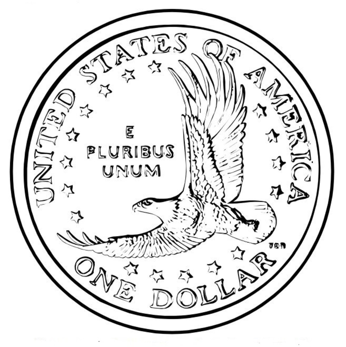 Bald Eagle Coin Coloring Page