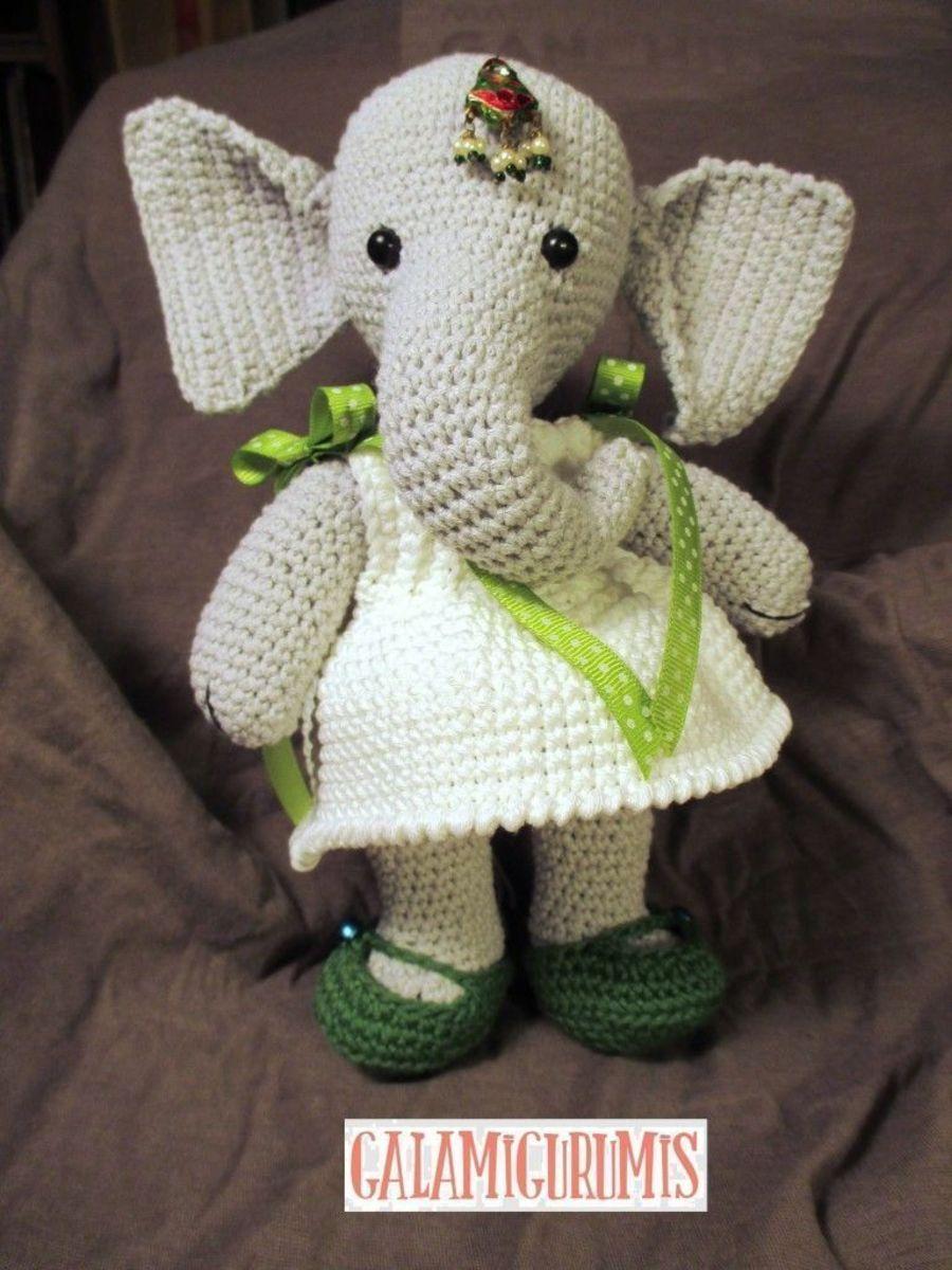 Free Crochet Pattern Elephant Girl Amigurumi Doll Hubpages