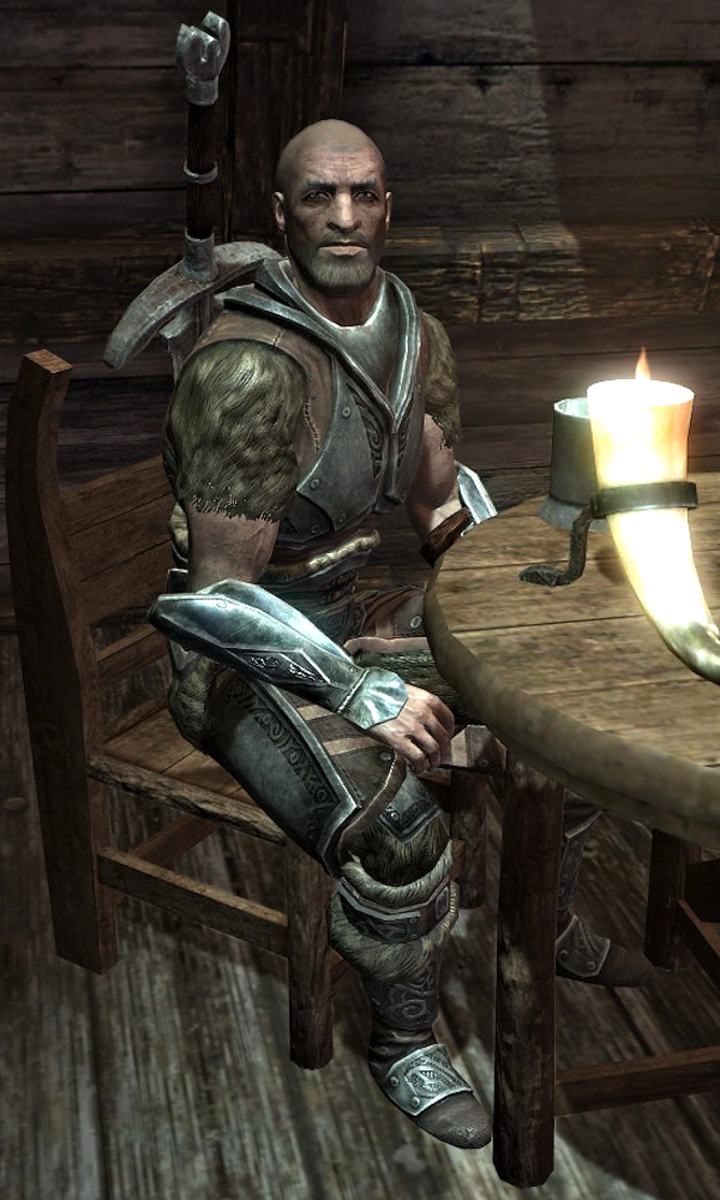 Stenvar is a Nord mercenary found in the hold of Windhelm.