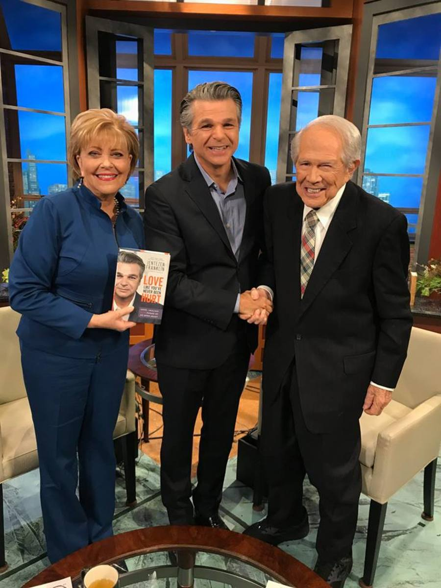 Terry Meeuwsen, Jentezen Franklin and Pat Robertson, March 8, 2018.